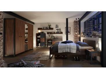 JUSTyou Belfast Schlafzimmerset Schlafzimmerkombination Schlafzimmer Komplett Stirling Eiche
