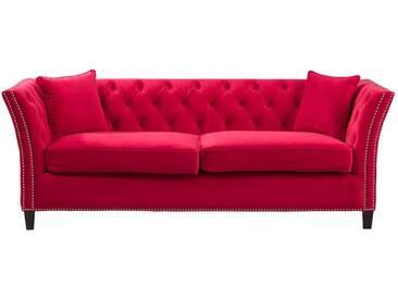 Sofa Chesterfield Modern Raspberry Red 3-Sitzer