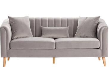 Sofa Meriva Velvet grey 3-Sitzer