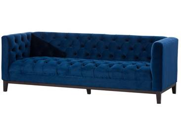 Sofa Velvet Elite indigo blue 3-Sitzer