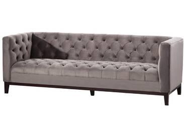 Sofa Velvet Elite grey 3-Sitzer