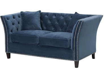 Sofa Chesterfield Modern Velvet Midnight 2-Sitzer