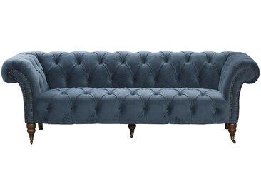 Sofa Chesterfield Glamour Velvet Midnight 3-Sitzer