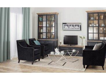 Möbel-Set Diana 2+1+1 Onyx