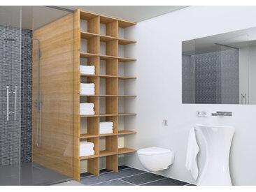 Regal Badregal Stradani - 111 x 248 x 35 cm (B x H x T) - Eiche, Birkenschichtholz, 18 mm - konfigurierbar in 3D