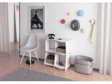 Sideboard Sideboard Entrada MDF - 76 x 75 x 41 cm (B x H x T) - Weiss, MDF Natur, 19 mm - konfigurierbar in 3D