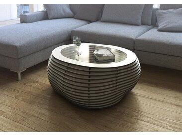 Tisch Couchtisch Formitable B&W - 91 x 39 x 91 cm (B x H x T) - Weiss, MDF Schwarz, 12 mm - konfigurierbar in 3D