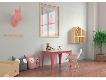 Tisch Kindertisch Kitana - 80 x 60 x 47 cm (L x B x H) - eco Weiss, Birkenschichtholz, 18 mm - konfigurierbar in 3D