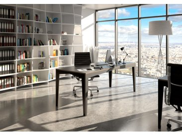 Tisch Konferenztisch Kubito - 200 x 80 x 76 cm (L x B x H) - Schwarz, Birkenschichtholz, 18 mm - konfigurierbar in 3D