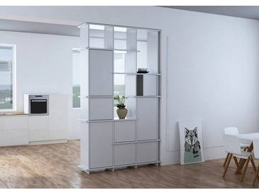 KONFIGURIERBAR IN 3D - Regal Raumteiler Gala - 120 x 200 x 30 cm - Weiß, Span