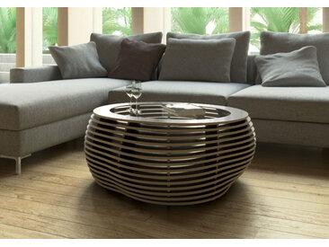 Tisch Couchtisch Formitable Schwarz - 91 x 39 x 91 cm (B x H x T) - Schwarz, Birkenschichtholz, 12 mm - konfigurierbar in 3D