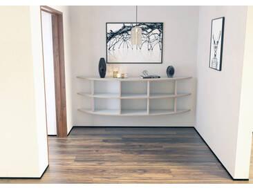 KONFIGURIERBAR IN 3D - Regal Wandregal Karen - 200 x 60 x 40 cm - Weiß, MDF Natur