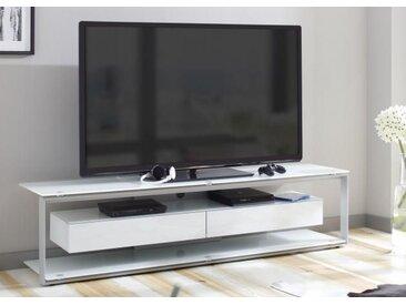 Choise 5202/06 TV-Rack Platingrau / Weissglas 170 cm Ohne TV-Halterung