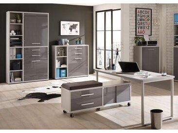 Set Plus Büro 17 Platingrau / Grauglas