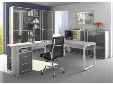 Set Plus Büro 8 Platingrau / Grauglas