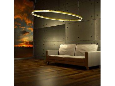 s.LUCE pro LED-Hängelampe Ring L Ø 80cm Dimmbar Gold