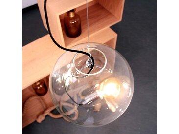 s.LUCE pro Sphere 30 Glaskugel mit 5m Kabel loser Fassung Chrom Klar