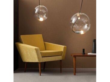 s.LUCE pro Sphere 40 Glaskugel mit 5m Kabel loser Fassung Chrom Klar
