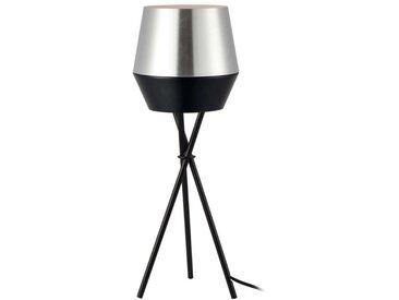s.LUCE pro LED Tischlampe SkaDa Ø 20cm in Alu, Schwarz
