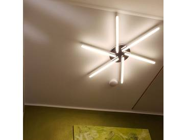s.LUCE Raye LED-Deckenleuchte Stern Ø 80cm 2500lm Chrom