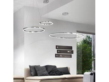 s.LUCE pro LED-Hängelampe Ring M Dimmbar Ø 60cm in Chrom