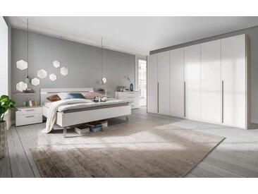 Schlafzimmer Gloss in bianco weiß matt/sahara matt