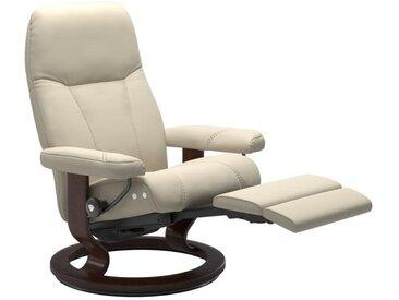 Relaxsessel Consul (M) in Batick cream mit Classic braun Gestell mit Legcomfort Funktion