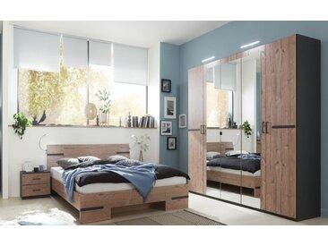 Schlafzimmer Anna 2 in graphit/silver fir Optik