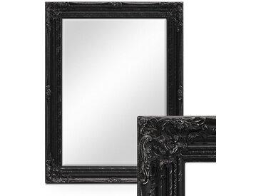 Wand-Spiegel im Barock-Rahmen Antik Schwarz mit Facettenschliff