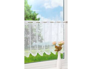 Scheibengardine von LYSEL® - Ranken (Bx H) 80cm * 60cm weiß