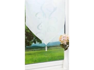 Scheibengardine von LYSEL® - Schnörkel (Bx H) 60cm * 80cm weiß