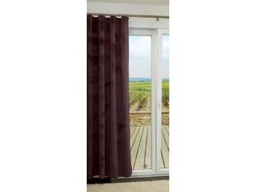 Vorhang von LYSEL® - Ares einfarbig in den Maßen Breite: 140cm Höhe: 225cm in Violett/aubergine