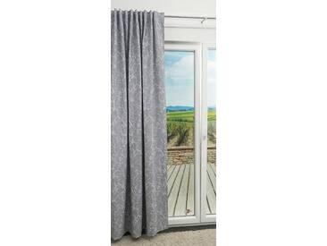 Vorhang von LYSEL® - Holly Natur in den Maßen Breite: 142cm Höhe: 245cm in Grau/eisengrau