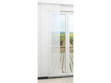Schiebevorhang  von LYSEL® - Blur lichtdurchlässig einfarbig in den Maßen 60 cm x 60 cm weiß/wollweiß