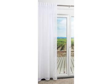 Dekoschal von LYSEL® - Boja Uni in den Maßen Breite: 140cm Höhe: 245cm in Weiß/reinweiß