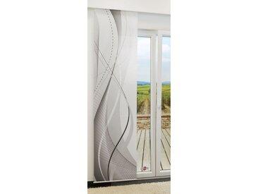 Flächengardine  von LYSEL® - Swing lichtdurchlässig mit Motiv in den Maßen 245 cm x 60 cm grau