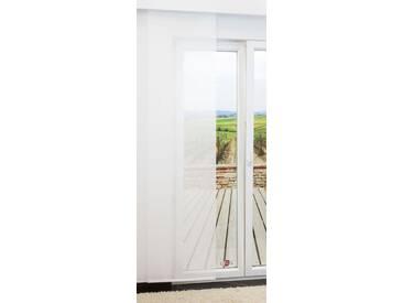 Schiebegardine  von LYSEL® - Vellum transparent einfarbig in den Maßen 245 cm x 60 cm weiß