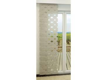Schiebevorhang  von LYSEL® - Prismendesign transparent  in den Maßen 245 cm x 63 cm grau/stein
