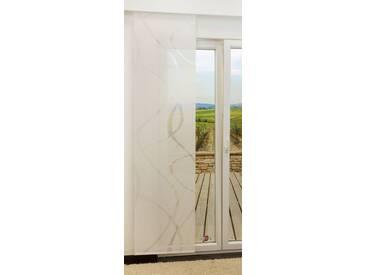 Schiebegardine  von LYSEL® - Coloma transparent mit Linien in den Maßen 245 cm x 60 cm weiß/weißlich