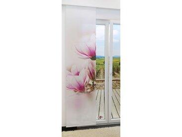 Flächengardine  von LYSEL® - Magnolie lichtdurchlässig mit Motiv in den Maßen 245 cm x 60 cm rosa/weißrosa