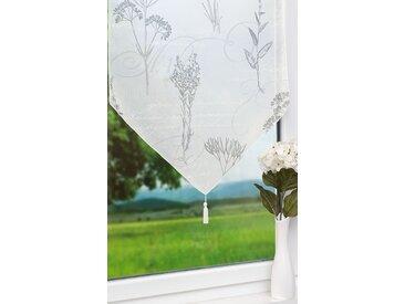 Scheibengardine von LYSEL® - Botanik (Bx H) 60cm * 80cm grau/taupe