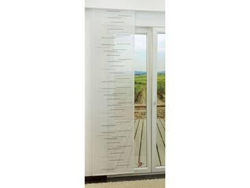 Schiebegardine  von LYSEL® - Spectre transparent mit Linien in den Maßen 245 cm x 60 cm grau/steingrau