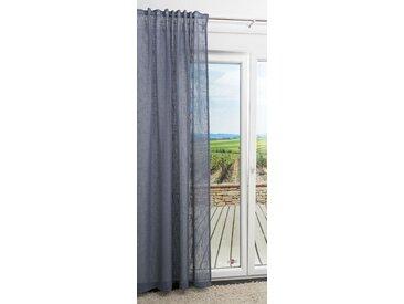 Dekoschal von LYSEL® - Brandi Uni in den Maßen Breite: 135cm Höhe: 245cm in Grau/blaugrau
