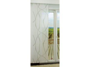 Schiebevorhang  von LYSEL® - Sway lichtdurchlässig mit Linien in den Maßen 245 cm x 60 cm grau