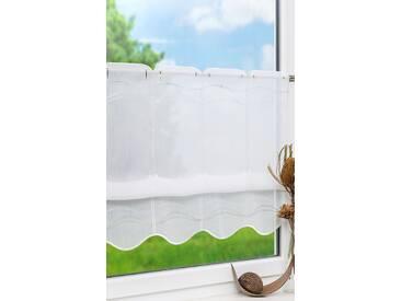 Scheibengardine von LYSEL® - Wellen (Bx H) 144cm * 60cm grau/hellgrau
