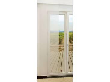 Schiebegardine  von LYSEL® - Eve transparent einfarbig in den Maßen 245 cm x 60 cm weiß
