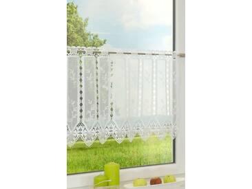 Scheibengardine von LYSEL® - Gräser  (Bx H) 90cm * 45cm weiß