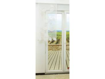 Schiebevorhang  von LYSEL® - Blattzeichnung transparent  in den Maßen 140 cm x 60 cm beige