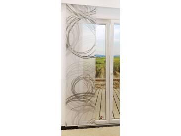 Flächengardine  von LYSEL® - Loops transparent mit Motiv in den Maßen 245 cm x 60 cm grau