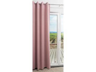 Ösenschal von LYSEL® - Abelina einfarbig in den Maßen Breite: 140cm Höhe: 245cm in Rosa/altrosa